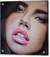 Adriana Lima Oil On Canvas Acrylic Print