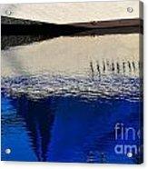 Adrift On The Deep Blue Acrylic Print