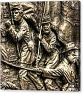 Advancing The Colors - State Of Delaware Monument Gettysburg Detail-a Autumn Mid-day Acrylic Print