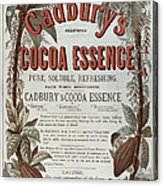 Advertisement For Cadburs Cocoa Essence From The Graphic Acrylic Print