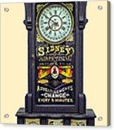 Advertising Clock Acrylic Print