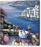 Aegean Vista Acrylic Print by John Zaccheo