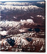 Aeial View Of The Snowy Mountains Acrylic Print