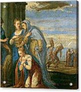 Aeneas Taking Leave Of Dido Acrylic Print