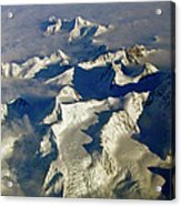 Aerial Ice Fields Acrylic Print