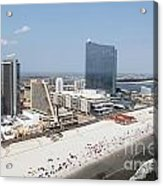 Aerial Of Downtown Atlantic City Acrylic Print