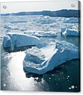Aerial Of Icebergs Of Ilulissat Acrylic Print