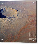 Aerial Of Meteor Crater Acrylic Print
