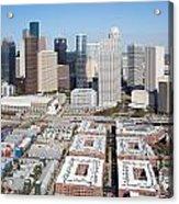 Aerial Of The Houston Skyline Acrylic Print