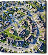 Aerial Pattern Of Residential Homes Acrylic Print