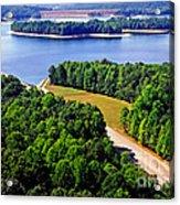 Aerial Summersville Dam And Lake Acrylic Print