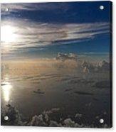 Aerial Sunrise Over Florida Keys Acrylic Print