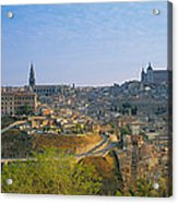 Aerial View Of A City, Toledo, Spain Acrylic Print
