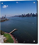 Aerial View Of A Statue, Statue Acrylic Print