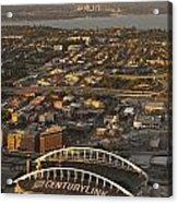 Aerial View Of Bellevue Skyline And Century Link  Acrylic Print