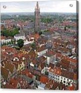 Aerial View Of Bruges Belgium Acrylic Print
