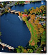 Aerial View Of Charles River With Views Acrylic Print