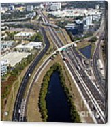 Aerial View Of City Of Tampa Acrylic Print