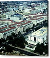 Aerial View Of Constitution Avenue Acrylic Print