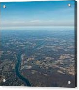 Aerial View Of Earth In Usa Acrylic Print
