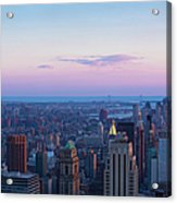 Aerial View Of Empire State And Midtown Acrylic Print
