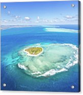 Aerial View Of Heart Shaped Island Acrylic Print