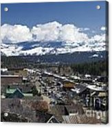 Aerial View Of Historic Downtown Truckee California Acrylic Print