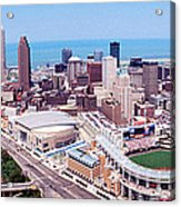 Aerial View Of Jacobs Field, Cleveland Acrylic Print