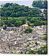 Aerial View Of Keswick In The Lake District Cumbria Acrylic Print