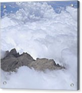 Aerial View Of Mt Kinabalu Borneo Acrylic Print