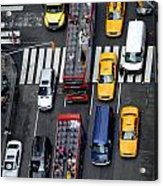 Aerial View Of New York City Traffic Acrylic Print