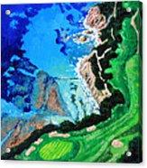 Aerial View Of Pebble Beach Acrylic Print