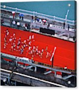Aerial View Of People Running Acrylic Print