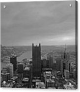 Aerial View Of Pittsburgh Acrylic Print