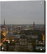 Aerial View Of Riga Acrylic Print
