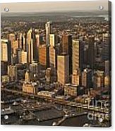 Aerial View Of Seattle Skyline Along Waterfront Acrylic Print