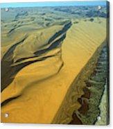 Aerial View Of Skelton Coast, Namib Acrylic Print