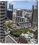 Aerial View Of Sydney City Hall Acrylic Print