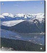 Aerial View Of Taku River, Taku Glacier Acrylic Print