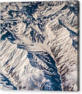 Aerial View Of The Mountains Acrylic Print