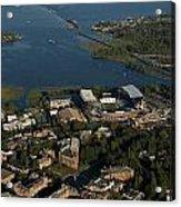 Aerial View Of The New Husky Stadium Acrylic Print