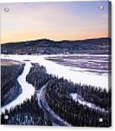 Aerial View Of The Tanana River Valley Acrylic Print