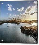 Aeriall View Of Sydney Harbour At Sunset Acrylic Print