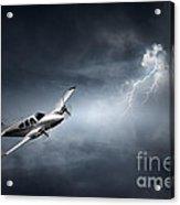 Risk - Aeroplane In Thunderstorm Acrylic Print