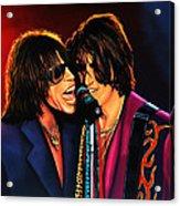 Aerosmith Toxic Twins Painting Acrylic Print