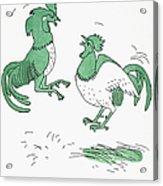 Aesop: Cocks Fighting Acrylic Print