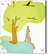 Aesop: Fox & Crow Acrylic Print