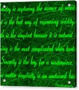 Aesthetic Quote 1 Acrylic Print