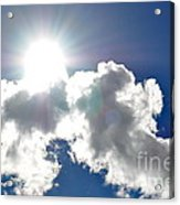 Affirmation Sunlit Oracle Acrylic Print by Coralie Plozza