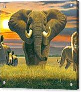 Africa Triptych Variant Acrylic Print